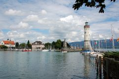 Lindau. Summer pictures of the bavarian island Lindau (Bodensee Stock Photo