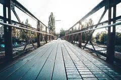 Lindau centrali mosta słońce Fotografia Royalty Free