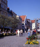 Lindau, Germany. Central street in the town of Lindau. Lindau is a Bavarian town and an island on the eastern side of Lake Constance Royalty Free Stock Photo