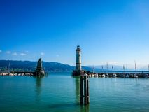 Lindau Germany lake constance View. Very much one of the main tourist attractions and points of interest in the area Stock Image