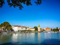 Lindau Germany lake constance View. Very much one of the main tourist attractions and points of interest in the area Royalty Free Stock Image