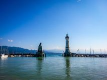 Lindau Germany lake constance View. Very much one of the main tourist attractions and points of interest in the area Royalty Free Stock Images