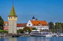 Lindau Germany lake constance View. Very much one of the main tourist attractions and points of interest in the area Stock Images