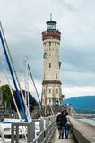 Lindau, Germany - May 20, 2018: The New Lighthouse at Lake Constance German: Bodensee.  stock photo