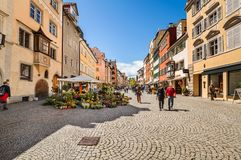 Historic town of Lindau on lake Constance. Germany Stock Images