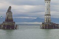 Lindau-Hafen Stockbilder