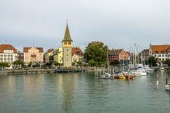 Lindau Hafen of Germany. The bird& x27;s eye view of Lindau Hafen in Germany Royalty Free Stock Photo