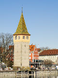 Lindau harbor with buildings. Image of the harbor of Lindau with buildings at lake constance in Germany Royalty Free Stock Image