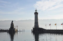 Lindau harbor. Gemany. Royalty Free Stock Photos