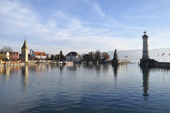 Lindau harbor. Gemany. Royalty Free Stock Photo