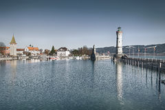 Lindau harbor Stock Photography