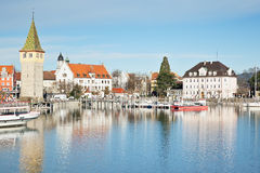 Lindau harbor Stock Photo
