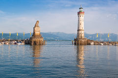 Lindau harbor. In lake Bodensee, Germany stock images