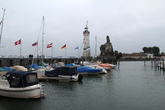 Lindau harbor. In lake Bodensee, Germany Stock Image