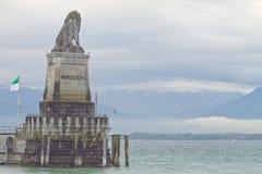 Lindau harbor Stock Photography