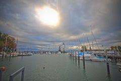 Lindau harbor Stock Photo