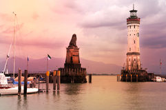Lindau harbor Royalty Free Stock Image
