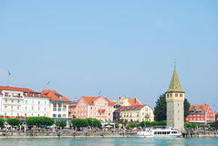 Lindau harbour royalty free stock image