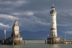 Lindau harbour Stock Image