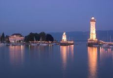 Lindau Harbour royalty free stock images