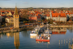 Lindau Harbour on Bodensee, Germany Royalty Free Stock Image