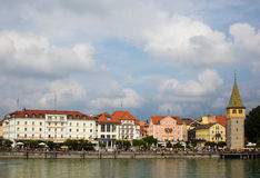 Lindau harbour view Stock Images