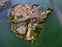 Lindau island in the lake of constance Royalty Free Stock Images