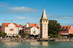 Lindau at lake constance. The habour of lindau at lake constance Stock Photography