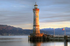 Lindau lighthouse, Bavaria, Germany Stock Images