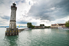Lindau lighthouse Stock Photo