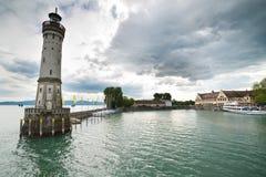 Lindau lighthouse Stock Photo