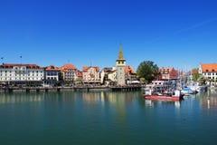 Lindau på sjön Constance i Tyskland Arkivfoto