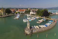 Lindau port, Tyskland Royaltyfri Foto