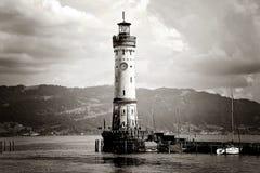 Lindau port z latarnią morską, Bodensee, Niemcy zdjęcie royalty free