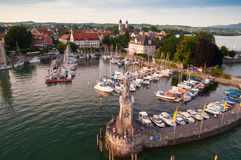 Lindau vid sjön av Bodensee Royaltyfria Bilder