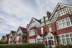 Linde van huizen, Londen stock fotografie