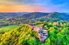 Lindelbrunn kasztel w Palatinate Lasowy Palatinate, Niemcy zdjęcia stock