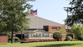Lindell Bank, Saint Louis, MO Stock Image