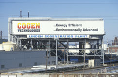 Linden Cogeneration Plant. The front of the Linden Cogeneration Plant in Linden, NJ Stock Image