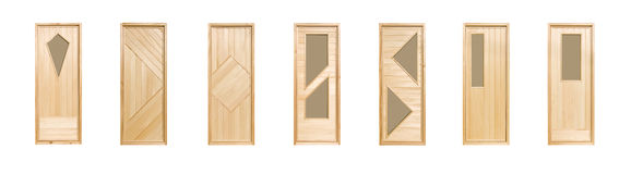 Linden doors isolated Stock Image