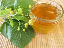Linden flowers jam Royalty Free Stock Photos
