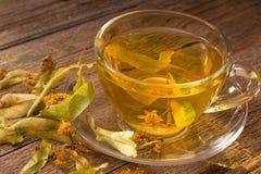 Linden flowers tea Stock Images