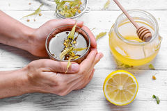 Linden Herbal Tea photos libres de droits