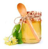 Linden honey Stock Photos