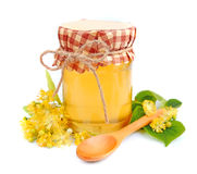 Linden honey Stock Photography