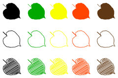 Linden leaf color set. Linden leaf - color set, linden leaf Stock Photography