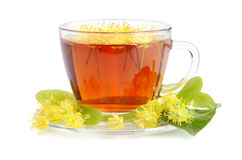 Linden tea in cup Stock Photo