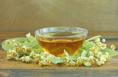 Linden tea cup Royalty Free Stock Photography