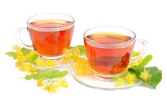 Linden tea in cups Royalty Free Stock Photos