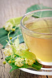 Linden tea and flowers Stock Photo
